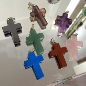 Crosses in crystal and gemstone