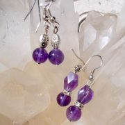 m_Amethyst dangle earings
