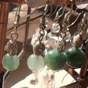 m_Aventurine and Jade non silver earings