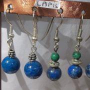 m_Lapis, Lapis & Malachite earings