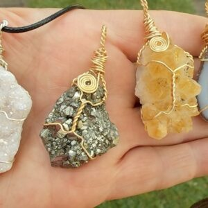 Wire wrapped Crystal Clusters