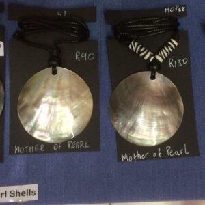 Shell pendants and shell earrings